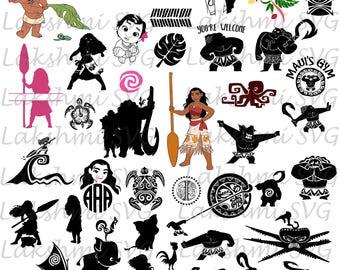 Moana svg,Maui svg,39 Moana clipart, Moana cut files, Moana svg for silhouette, files for cricut, svg, dxf, eps, cuttable design,hawaii svg
