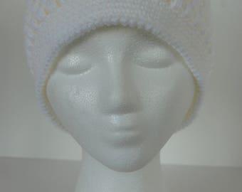 White textured women's hat