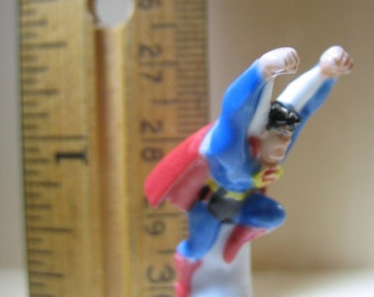 SUPERMAN Man of Steel  DC Comics - French Feve Feves Porcelain Figurines King Cake Baby Doll House Charm Miniatures Mini E94