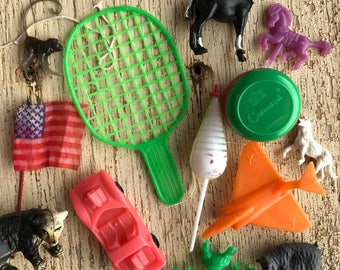 13 piece plastic toys-made in Hong Kong