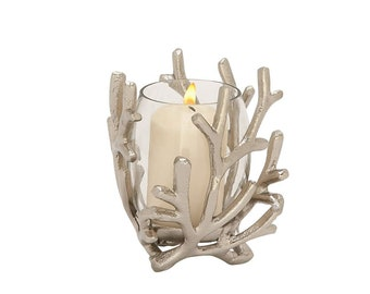 Aluminum Glass Candle Holder