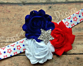Fourth Of July Bow, Baby 4th Of July, 4th Of July Headband, July 4th Baby Bow, July Accessories, July Headband Baby, July Bow For Baby, July