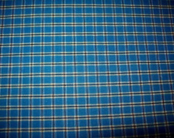 checkered vintage small blue, apron, doll