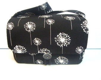 "Large 4"" Size Coupon Organizer / Budget Organizer Holder Box - Attaches to Your Shopping Cart - Dandelion on Black"