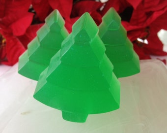Christmas Tree Soap - Christmas Soap - Holiday Soap - Christmas Guest Soap - Christmas Forest Soap