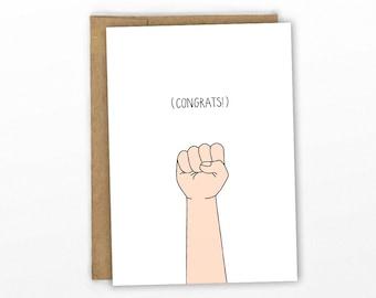Congratulations Card ~ Graduation Card ~ Fist Bump! by Cypress Card Co.