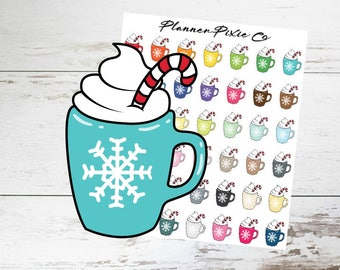 Christmas Planner Stickers // Hot Chocolate // Cocoa // 001
