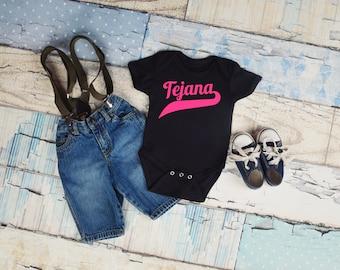 Tejena Infant Bodysuit, Pink Tejana, Tejana Gift, Tex Mex Gift, Baby Gift, Texas Pride, Mom Gift, Baby Shower Gift, Baby Shirt