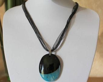 Necklace in agate - semiprecious