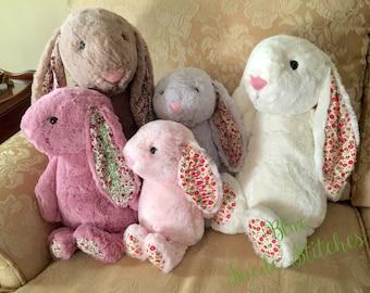 Monogrammed Plush Bunny - Flower Ear Bunny | Easter Gift | Baby Shower | New Baby | Easter Bunny | Gift for Baby