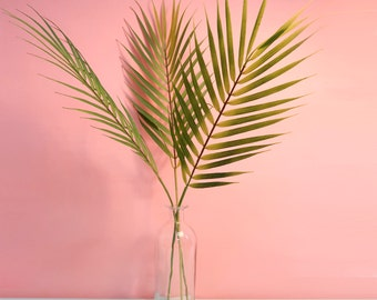 Artificial Areca Palm Leaf / Faux Palm Leaves Stem / Fake Tropical Branch Plants for Home Centerpieces and Flower Arrangement