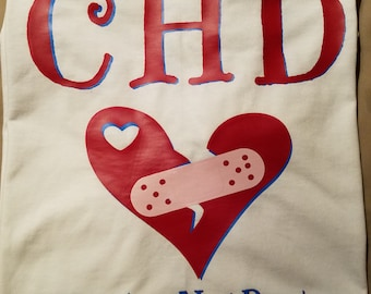 CHD Awareness #Broken but not Beaten Tshirt Adult, Youth, Toddler, Onesie