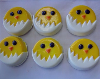 Chicken Candy Covered Cookie (6)-Perfect for Barnyard/Farm Parties/Baby Showers