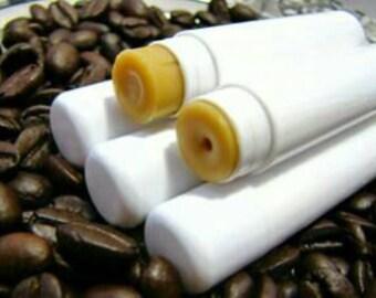 Java lip balm, Coffee, natural, chapped, dry lips, healing, lanolin free
