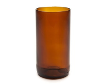 Brown Bottle Glass Made from Upcycled Glass Bottle by Battat Glass