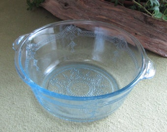 Vintage Fire King Blue Casserole Dish Philbe-Sapphire Individual Serving 1941 to 1956 Ovenware