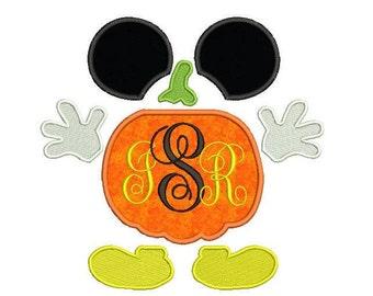 Pumpkin  Applique Design - Halloween embroidery design - Instant download - pes  jef  hus vip  vp3  xxx  dst  exp - 3 size - 4x4 5x7 6x10