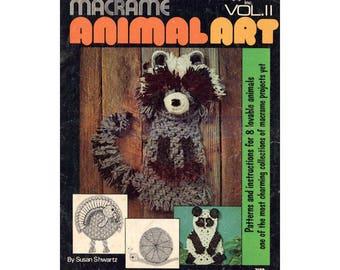 Macrame Animal Art Vol II - Vintage Macrame Patterns Instant Download PDF 23 pages