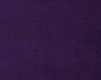 Aubergine Dark Purple Velveteen by Robt Kaufmann Light Weight for Garments, Crafting or Trims 100% Cotton - Half Yard