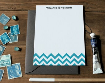 Chevron Personalized Flat Notes - Set (10)