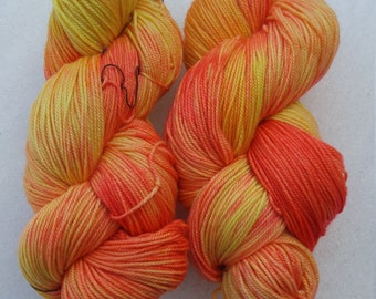 Tulips 1.0 OOAK Sport Weight Yarn