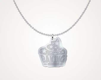 Baking Silver Necklace - .925 Silver Necklace - Gift Necklace - Gift Idea