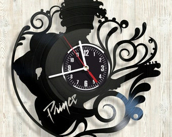 PRINCE vinyl record wall clock best eco-friendly gift for any occasion