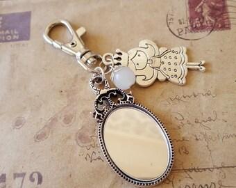 Keychain ~ mirror ~ ~ silver ~