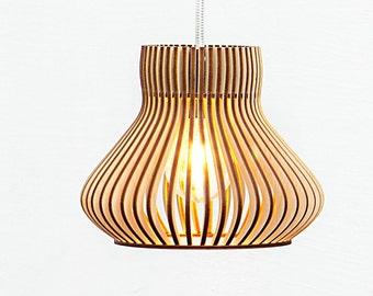 Already ASSEMBLED Wooden Lamp / Lamp / Ceiling Lamp / Pendant Lamp /  Lighting / Light