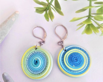 Scraggy Edge round Spiral Earrings