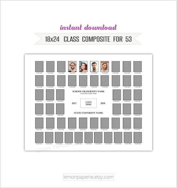18x24 class composite template psd photoshop template. Black Bedroom Furniture Sets. Home Design Ideas