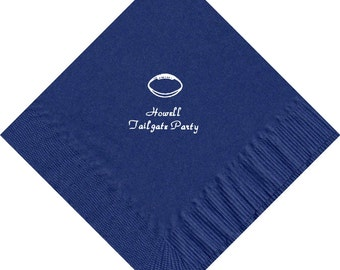 50 Football logo Luncheon Dinner personalized napkins wedding engagement anniversary birthday holiday special event