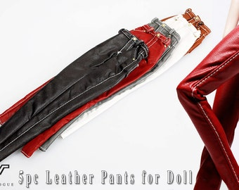 FRS1003 5 pc The Vogue Fashion Leather Pants for Barbie Fashion Royalty Silkstone Poppy
