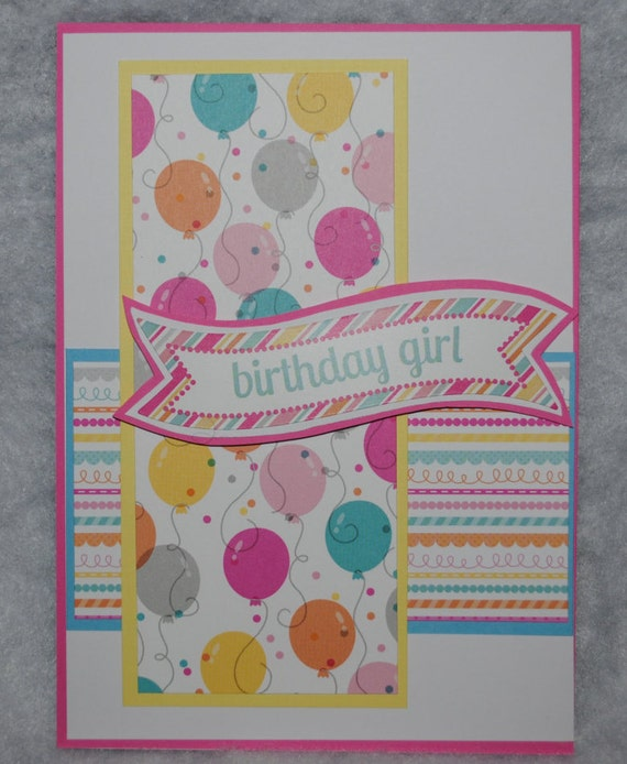 Handmade Birthday Card For Girl