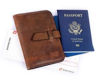 Passport Wallet  Personalized Passport Holder  Leather Travel Wallet  Personalized  Travel Birthday Gift Wallet For Men  Graduation Gift