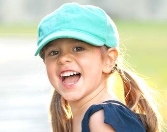 Mint Monogrammed Kids Baseball Cap, Monogrammed Kids Hat, Monogram Kids Cap, Personalized Kids Hat, Personalized Baseball Cap