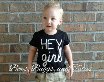 Hey girl shirt, hipster shirt, babies toddler boys, 2T 3T 4T 5T 6, hipster toddler, funny toddler shirt, cute toddler shirt