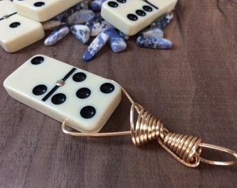Vintage Domino Necklace
