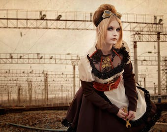Lolita Steampunk Victorian vintage dress cosplay