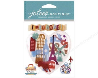 Jolee's Boutique | Europe | Dimensional Stickers | 4 Pc