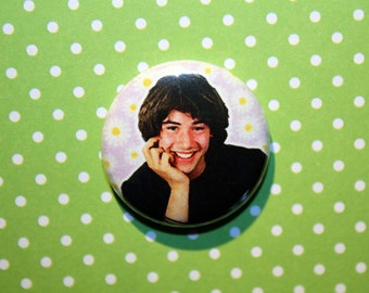 Keanu Reeves- One Inch Pinback Button Magnet