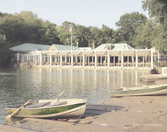NYC Photography, New York Decor, Wall Art Print, Central Park, Boathouse Photo, New York City, Nautical Decor, Boat Picture, 8 x 10 Print