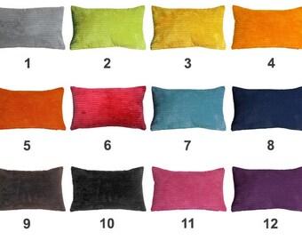 Pillow Decor - Wide Wale Corduroy 12x20 Lumbar Throw Pillow