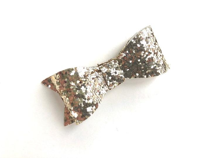 Glitter hair bow - glitter bow, hair bows, baby bows, bows, girls hair bows, gold bows, hair bows for girls, hair clips, toddler bows