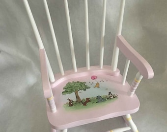 toddlers rocker, child's rocking chair, hand painted kids rockers, hand painted children's furniture, baby gifts
