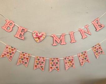 Pink BE MINE Valentine's Day banner