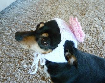 Dog Hat CROCHET PATTERN Rose Hat Flower Hat PDF Crochet Pattern Hat for Dogs Crochet Dog Outfit Dog Clothes Patterns Crochet Dog Pattern