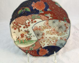 "Antique Imari Plate With A ""Patchwork Design"""