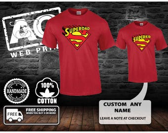Funny Father's Day Gift T-shirt T Shirt Tshirt - Gift for Him Gift Ideas Gift from Daughter Son Superhero Superdad Cool Awesome fa-0345..