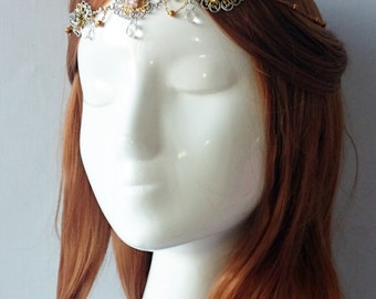Silver and gold Elven tiara